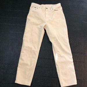 Lauren off white corduroy pants